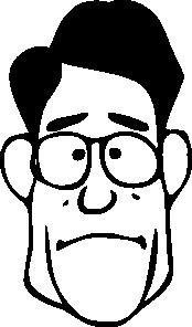 free vector Fen A Bit Surprised Face clip art