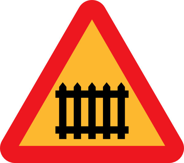 free vector Fence Gate Roadsign clip art