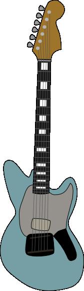 free vector Fender Jagstang Guitar clip art