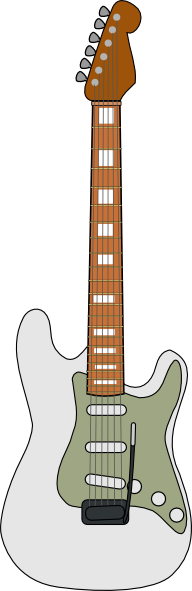 free vector Fender Stratocaster Guitar clip art