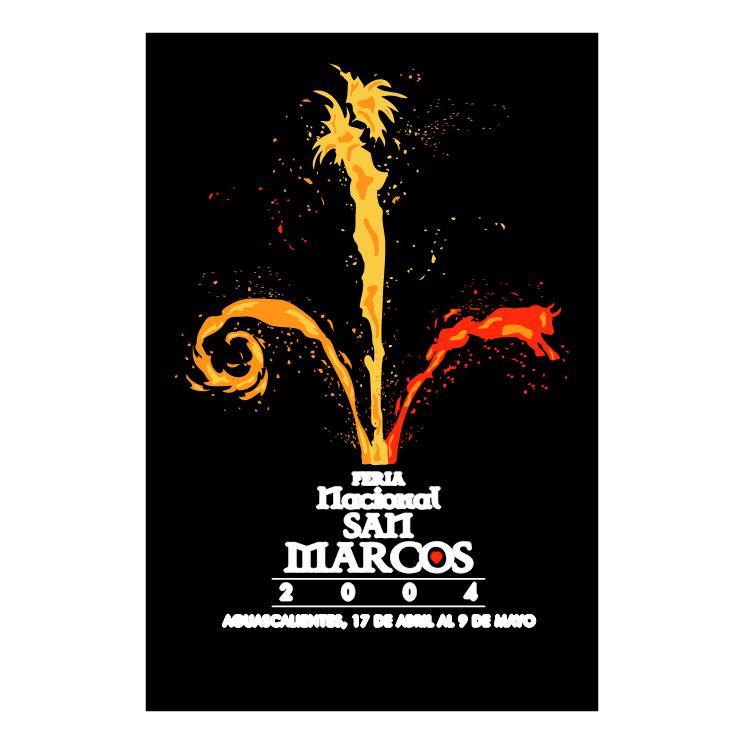 free vector Feria nacional de san marcos 2004