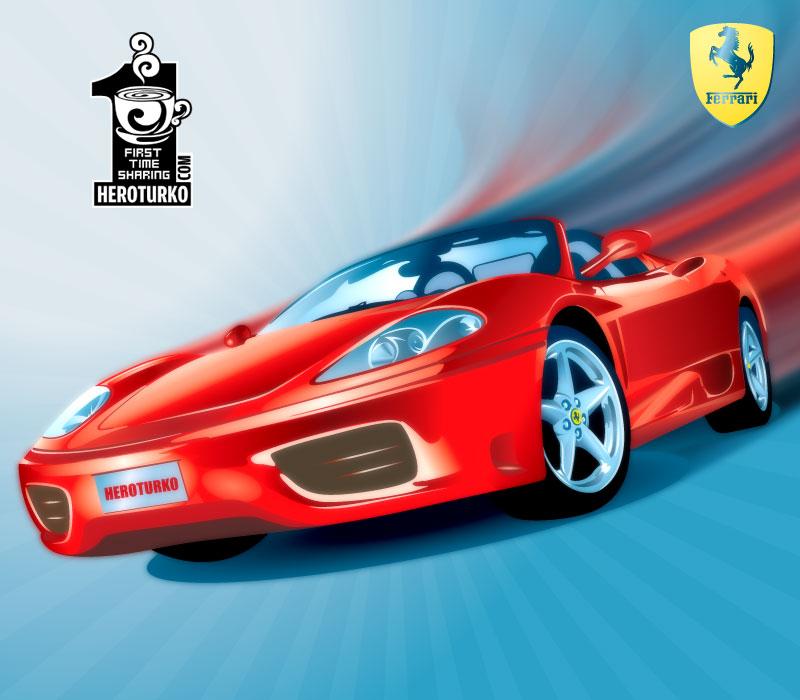 free vector Ferrari F360 car vector material
