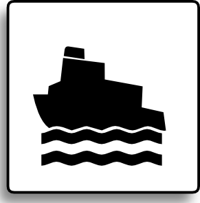 free vector Ferry Icon For Use With Signs Or Buttons clip art