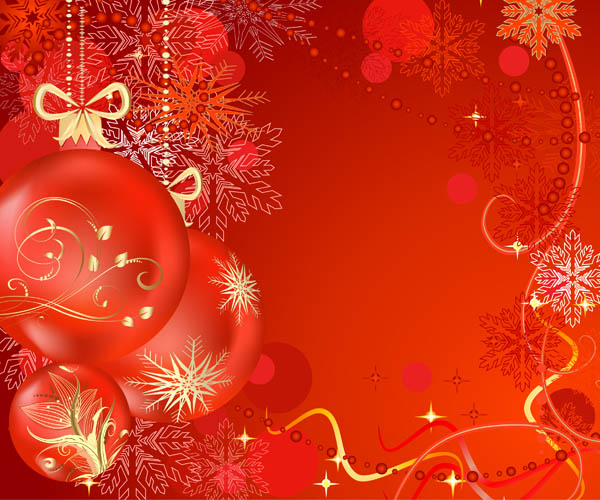 free vector Festive christmas ball vector