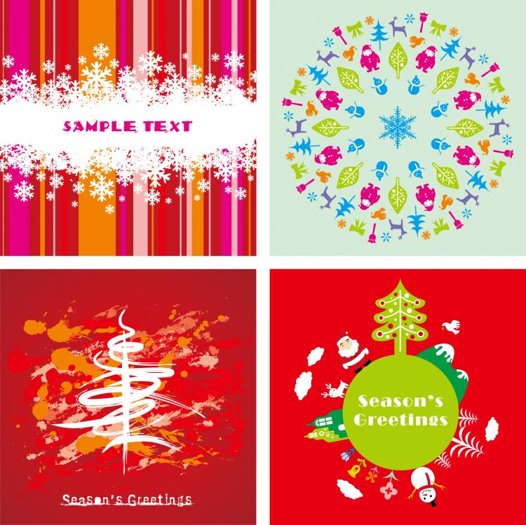 Festive christmas card background vector free vector 4vector