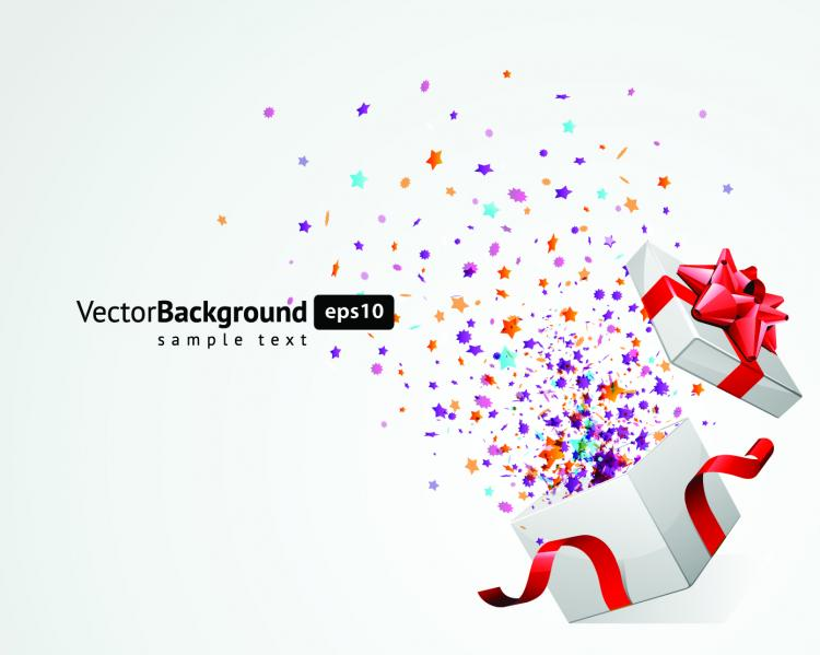 free vector Festive christmas gift background vector