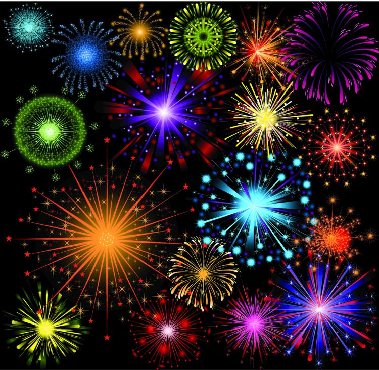 free vector Festive fireworks 04 vector