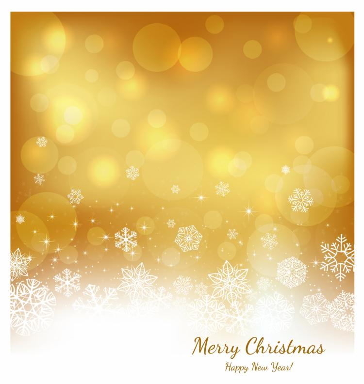 free vector Festive gold background