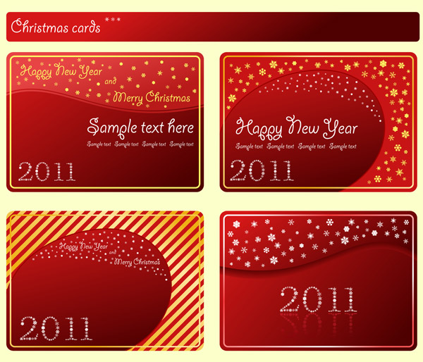 free vector Festive red card template vector