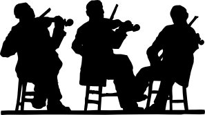 free vector Fiddlers In Silhouette clip art