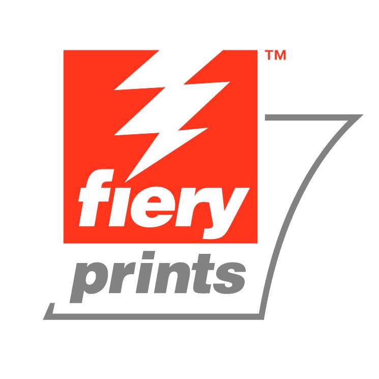 free vector Fiery prints