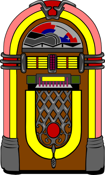 Line Art Jukebox : Fifties jukebox clip art free vector