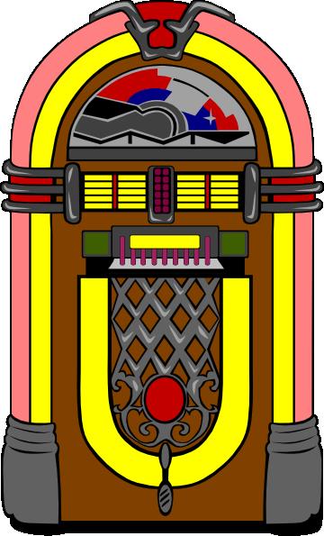 Line Art Jukebox : Fifties jukebox clip art free vector