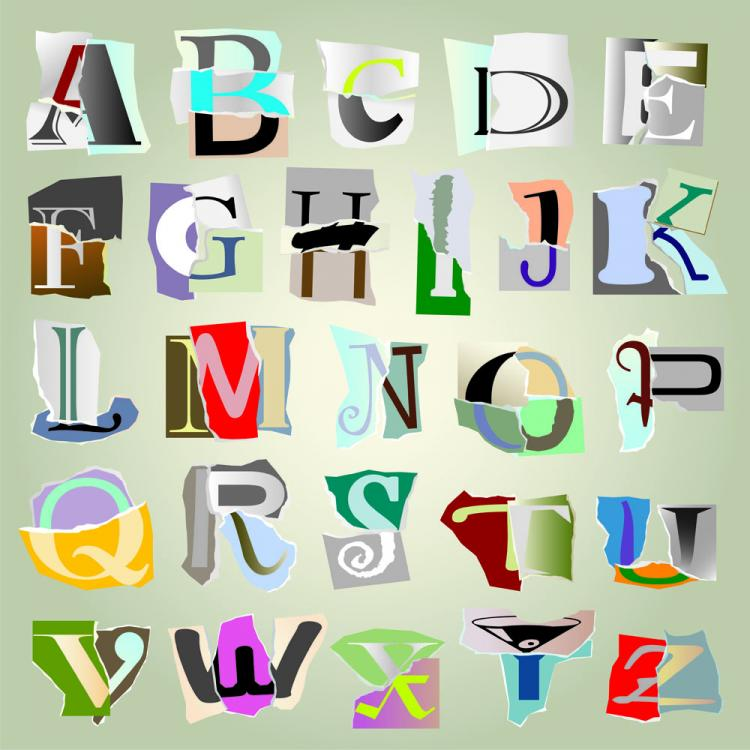 free vector Fight the tears paper letters 02 vector