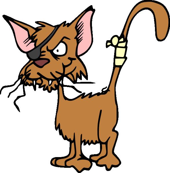 free vector Fighting Cat clip art