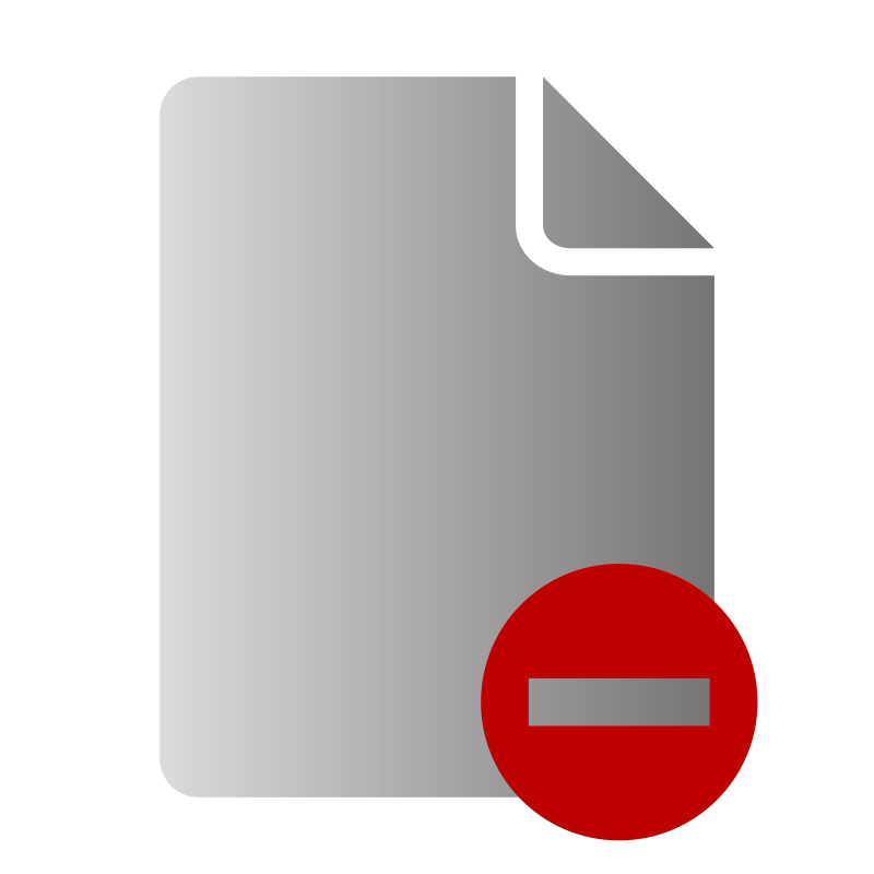 free vector File Delete Icon