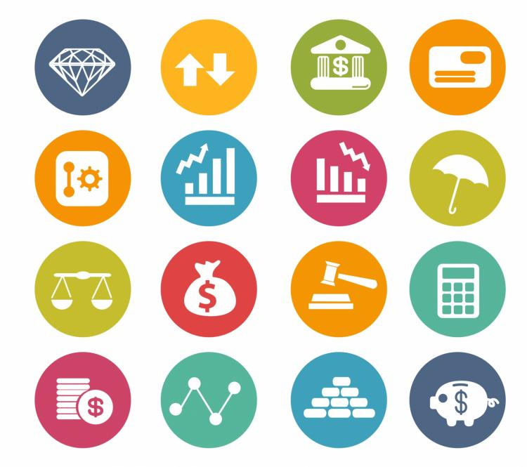 free vector Finance icons | circle series