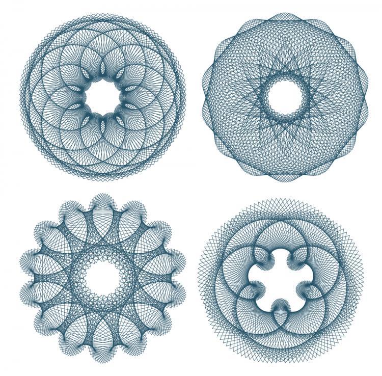 free vector Fine anticounterfeit pattern 02 vector