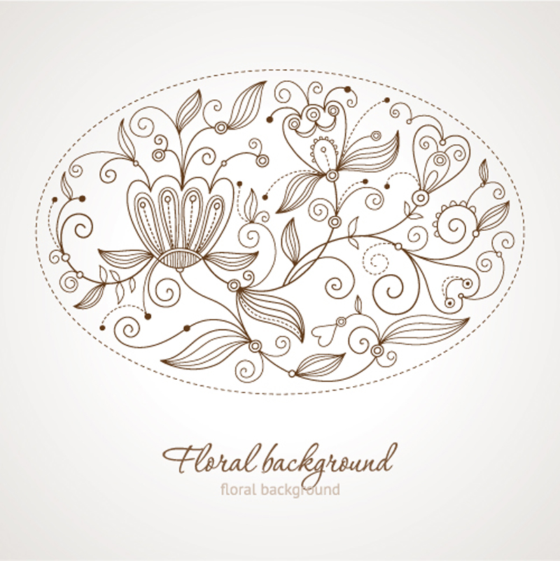 free vector Fine background pattern 05 vector