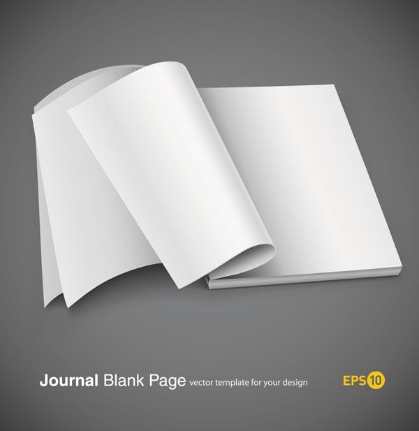 free vector Fine blank notebook vector