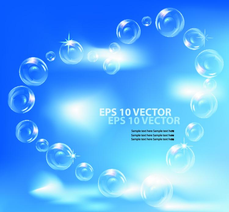 free vector Fine bubbles and blue sky 02 vector
