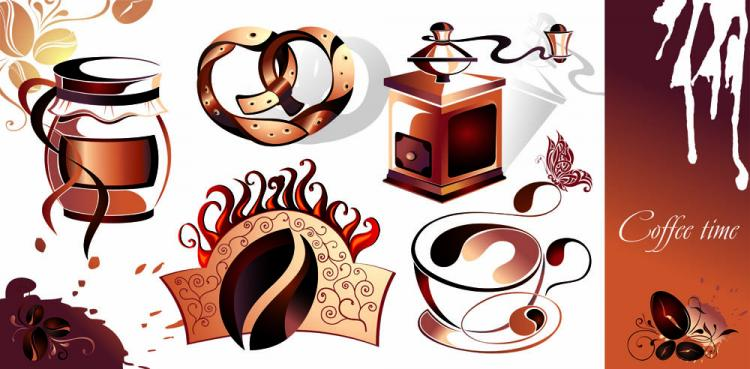 free vector Fine coffee element 01 vector
