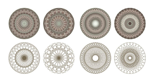free vector Fine coil pattern vector