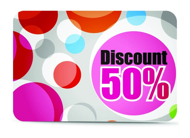free vector Fine discount card vector