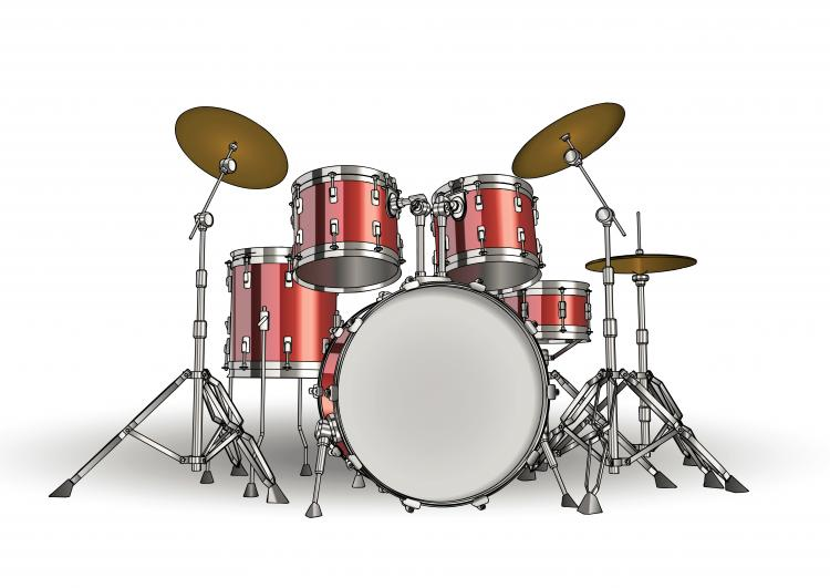 free vector Fine drums 01 vector