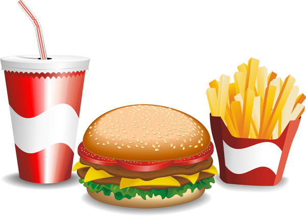free vector Fine fastfood icon vector