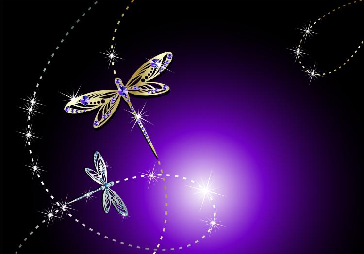 Fine jewelry dragonfly clip art and puzzles Free Vector / 4Vector