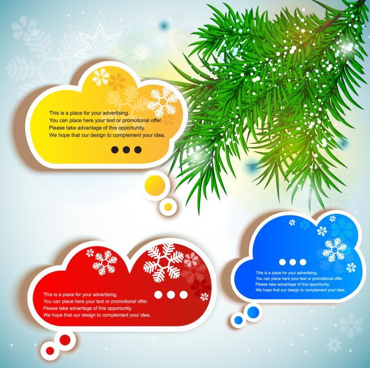 free vector Fine label stickers 02 vector