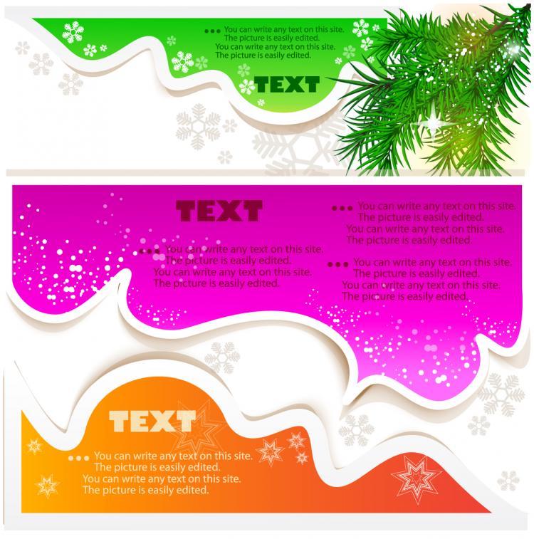 free vector Fine label stickers 03 vector