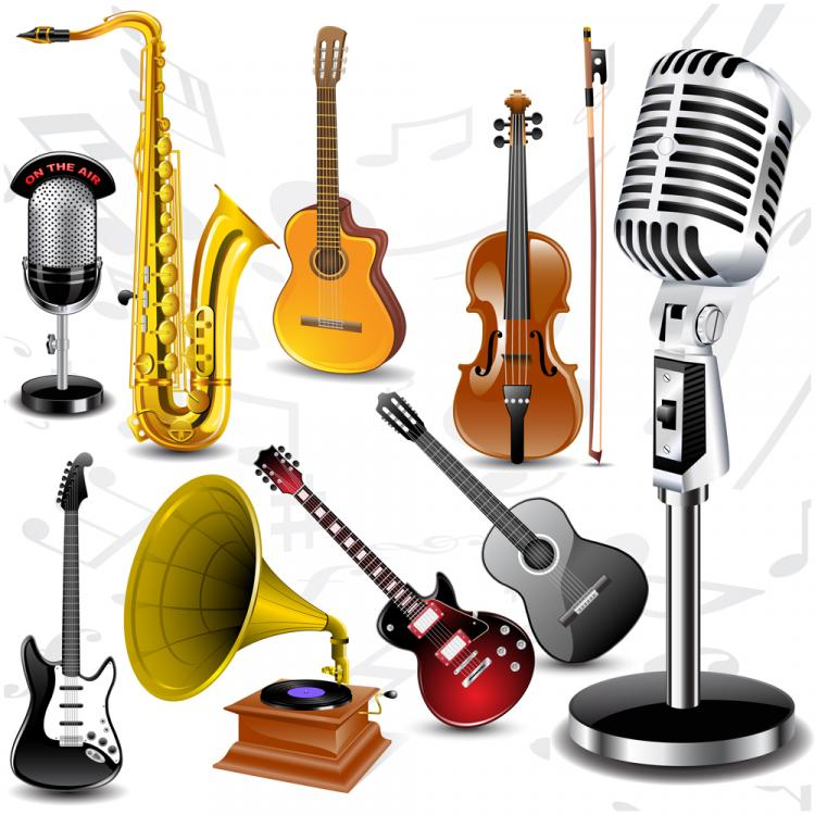 free vector Fine musical instruments vector