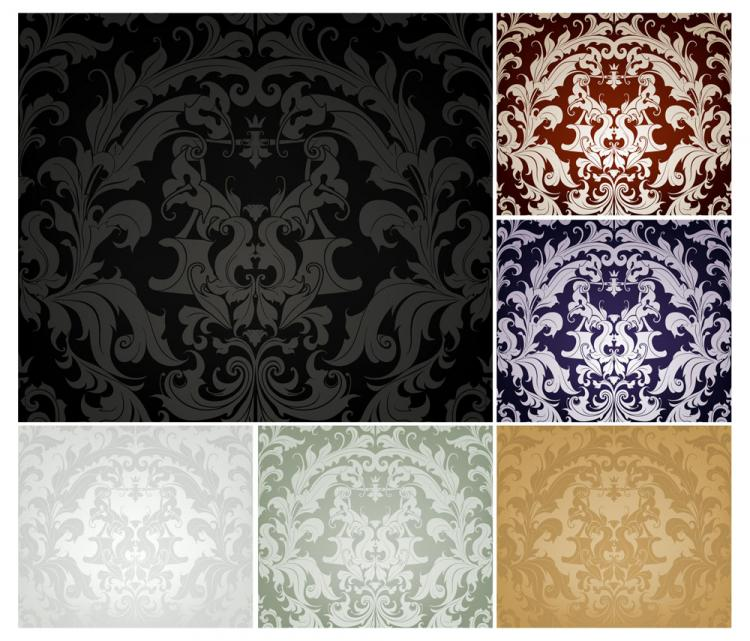 free vector Fine pattern background 02 vector
