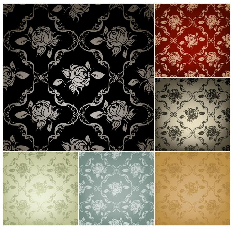 free vector Fine pattern background 03 vector