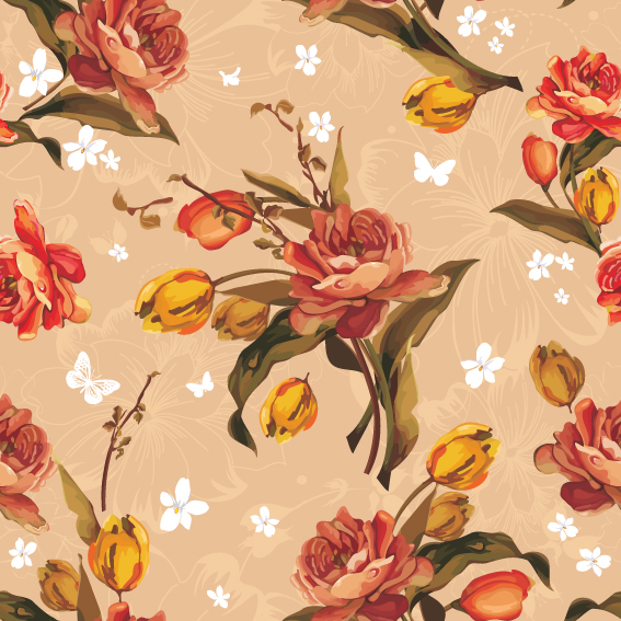 free vector Fine pattern background vector