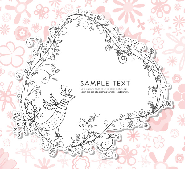 free vector Fine pattern border 04 vector
