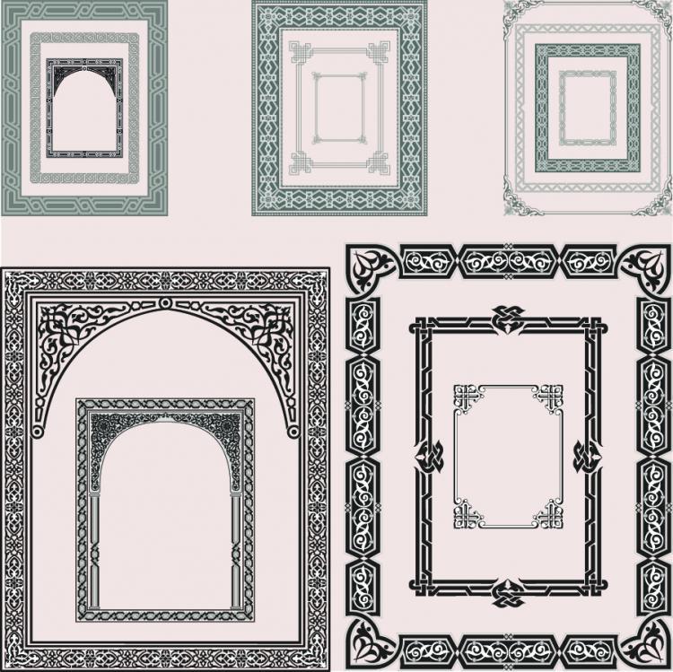 free vector Fine pattern border 05 vector