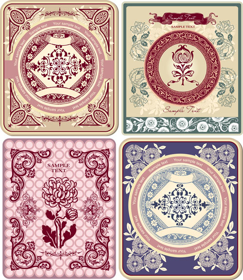 free vector Fine pattern border pattern 03 vector