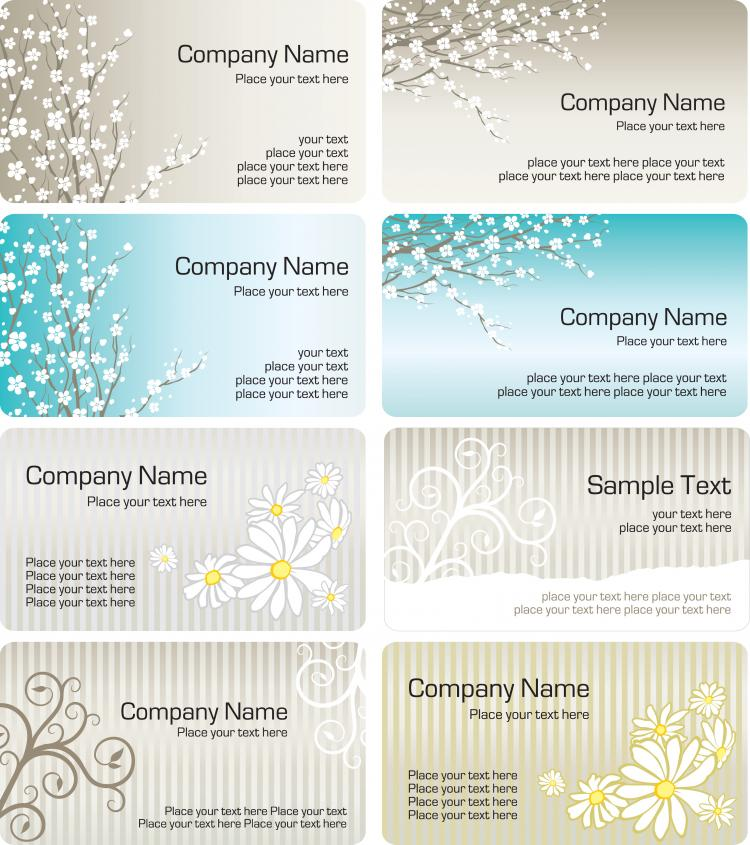 Fine Pattern Business Card Template Vector Free Vector Vector - Free vector business card templates