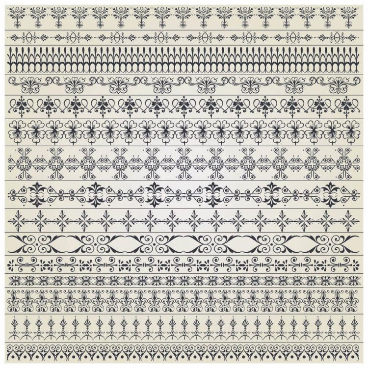 free vector Fine pattern vector