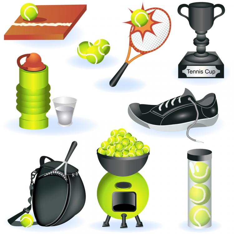 free vector Fine sports equipment vector