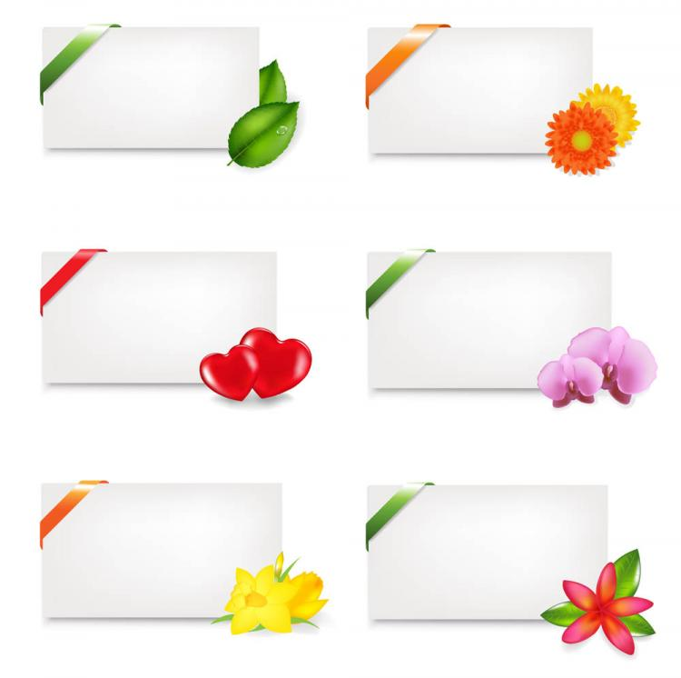 free vector Fine stationery and flowers vector