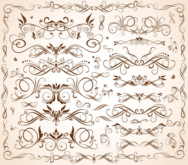 free vector Fine stripes lace vector