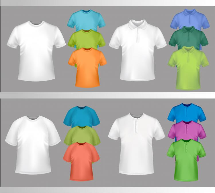 free vector Fine tshirt template 04 vector