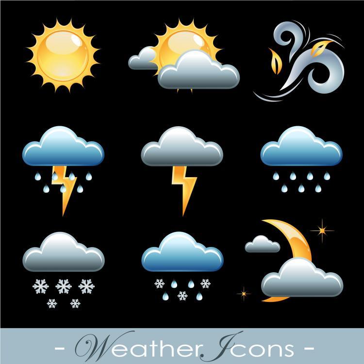 free vector Fine weather icon 02 vector