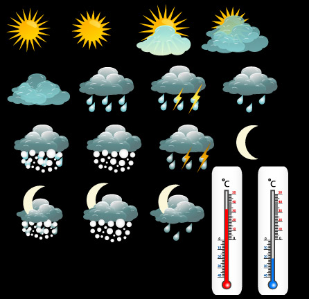 free vector Fine weather icon 03 vector