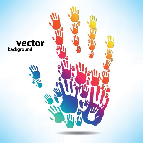 free vector Fingerprints theme vector