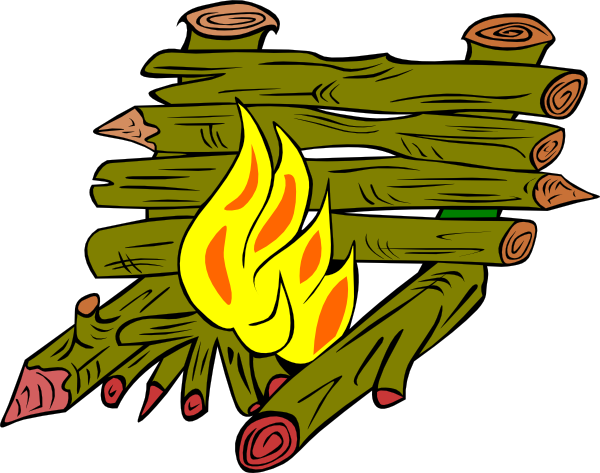 free vector Fire Catching Wood clip art